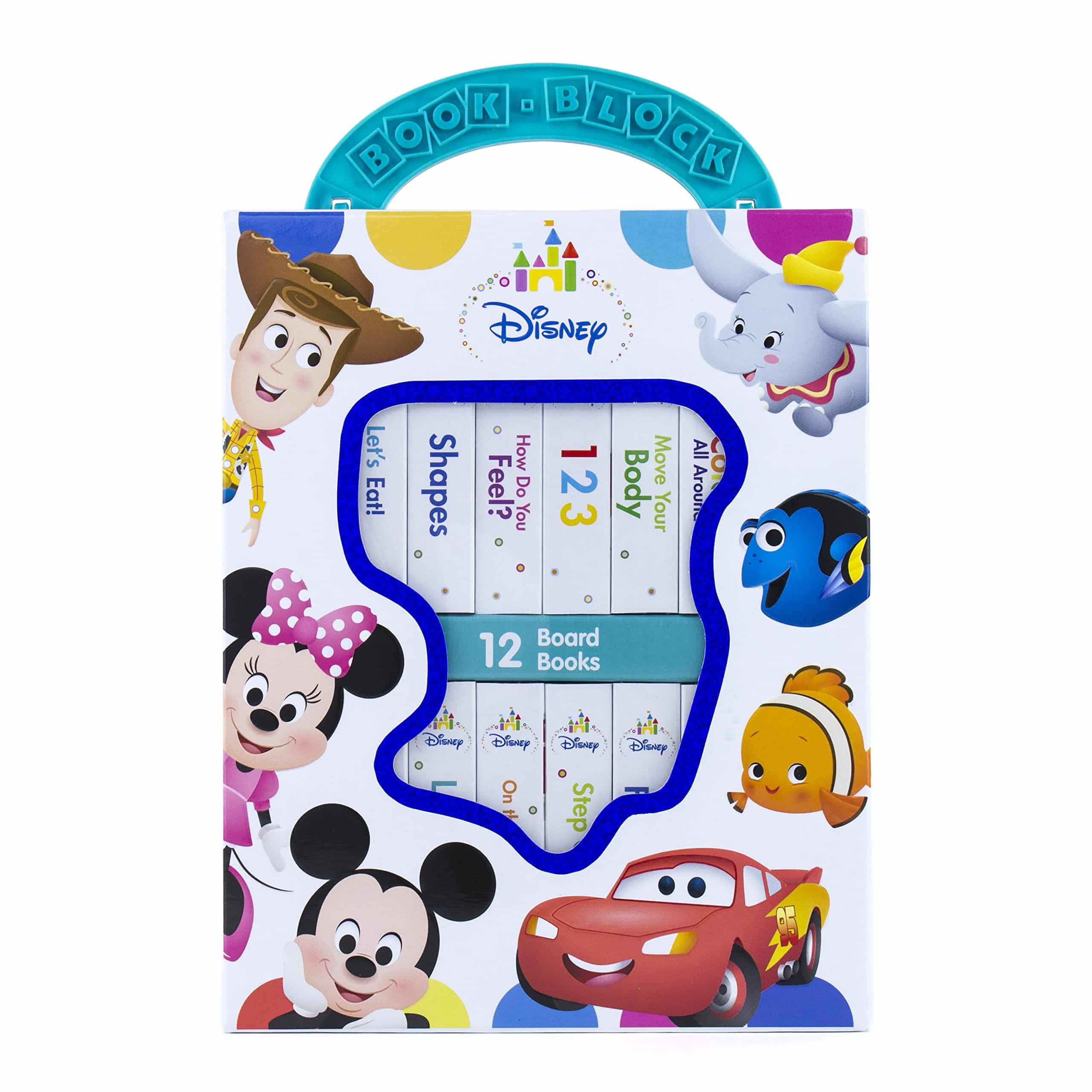 Disney Baby Mickey Mouse, Minnie, Toy Story and More! – My First Library Board Book Block 12-Book Set for $9.72 (Reg $15.99)