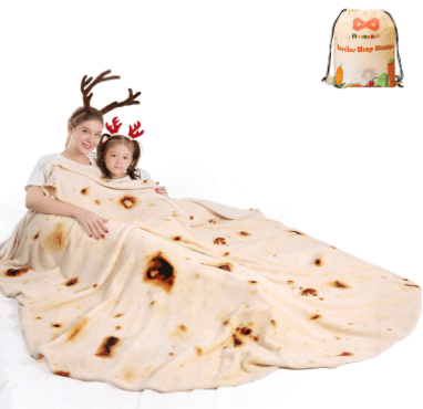 Double-Sided Burritos Tortilla Blanket for $16.99 (Reg. $19.99)