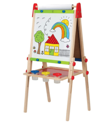 Hape Award Winning All-in-One Wooden Kid's Art Easel with Paper Roll and Accessories for $34.73 (Reg. $88.98)