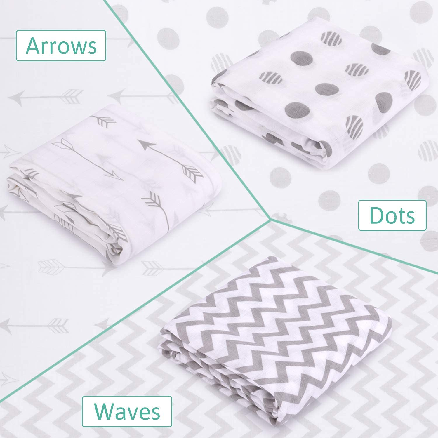 Muslin Baby Swaddle Blankets for $13.39 (Reg $26.78)