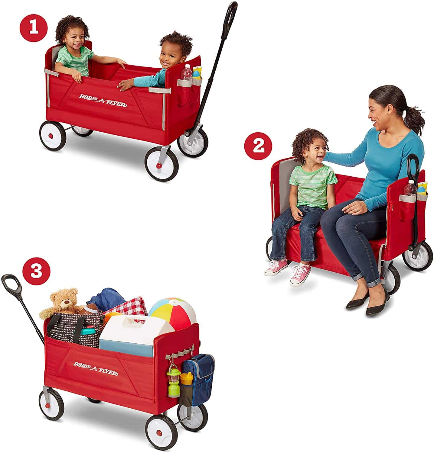 Radio Flyer Folding Wagon for kids and cargo, Red for $69 (Reg $89.99)