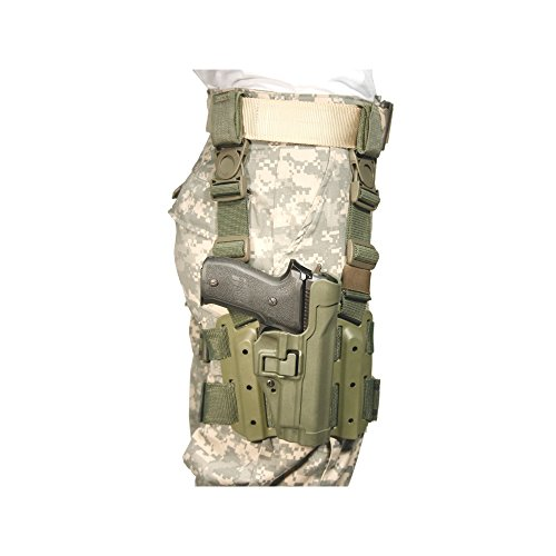 (Amazon) BLACKHAWK Serpa Level 2 Tactical Olive Drab Holster, Size 03, Left Hand, (1911 Gov't & Clones w/ or w/o rail )