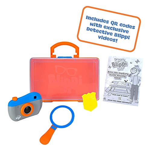 (Amazon) Blippi Detective Roleplay Set – Carry Case, Camera, Personalized Yellow Badge, Magnifying Glass, Activity Sheets for Ultimate Toddler and Young Child Mystery Adventure – Exclusive Content Included