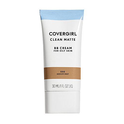 (Amazon) COVERGIRL Clean Matte BB Cream Medium/Deep 550 For Oily Skin, (packaging may vary) – 1 Fl Oz (1 Count)