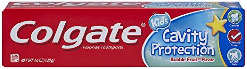 (Amazon) Colgate Kids Cavity Protection Toothpaste, ADA-Accepted, Bubble Fruit Flavor – 4.6 Ounce