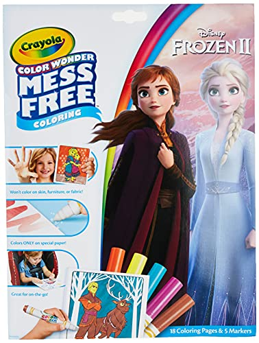(Amazon) Crayola Frozen Color Wonder Coloring Book & Markers, Mess Free Coloring, Gift for Kids, Age 3, 4, 5, 6 (Styles May Vary)