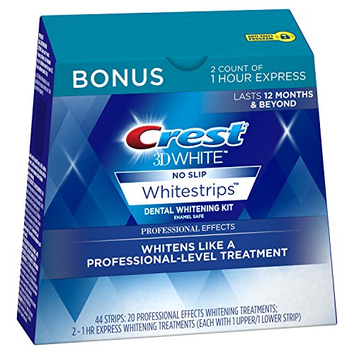 (Amazon) Crest 3D White Professional Effects Whitestrips 20 Treatments + Crest 3D White 1 Hour Express Whitestrips 2 Treatments – Teeth Whitening Kit