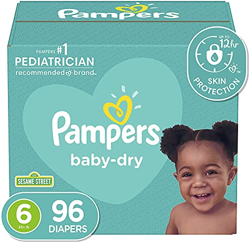 (Amazon) Diapers Size 6, 96 Count – Pampers Baby Dry Disposable Baby Diapers, Giant Pack