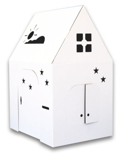 (Amazon) Easy Playhouse – Kids Art and Craft for Indoor and Outdoor Fun, Color, Draw, Doodle on this Blank Canvas – Decorate and Personalize a Cardboard Fort, 34″ X 27″ X 48″ – Made in USA, Age 3+