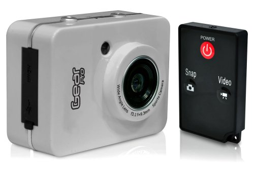 """(Amazon) Gear Pro HD 1080P Action Camera Hi-Res Digital Camera/Camcorder with Full HD Video, 12.0 Mega Pixel Camera & 2.4"""" Touch Screen (Silver)"""