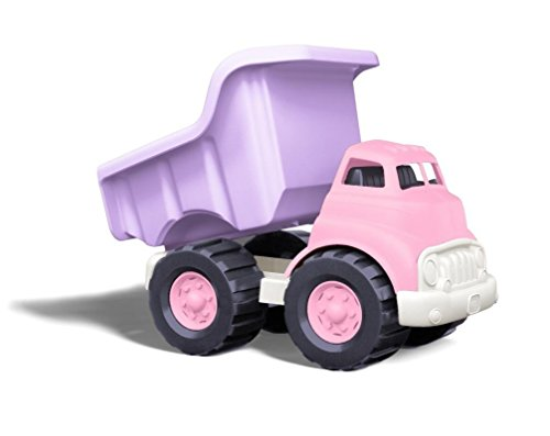 (Amazon) Green Toys Dump Truck in Pink Color – BPA Free, Phthalates Free Play Toys for Improving Gross Motor, Fine Motor Skills. Play Vehicles