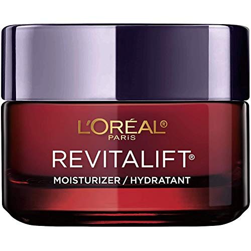 (Amazon) L'Oreal Paris Skincare Revitalift Triple Power Anti-Aging Face Moisturizer with Pro Retinol, Hyaluronic Acid & Vitamin C to reduce wrinkles, firm and brighten skin, 1.7 Oz