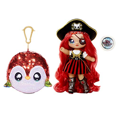 (Amazon) MGA Entertainment Na Na Na Surprise 2-in-1 Fashion Doll and Sparkly Sequined Purse Sparkle Series – Becky Buckaneer, 7.5″ Pirate Doll