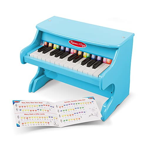 (Amazon) Melissa & Doug Learn-to-Play Piano With 25 Keys and Color-Coded Songbook – Blue