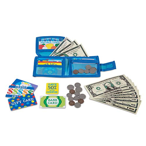 (Amazon) Melissa & Doug Pretend-to-Spend Toy Wallet With Play Money and Cards (45 pcs)
