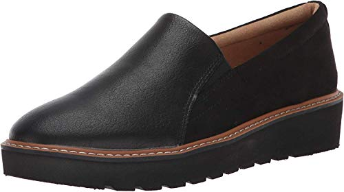 (Amazon) Naturalizer Women's Effie Loafer, Black Fabric/Smooth, 6.5 Wide