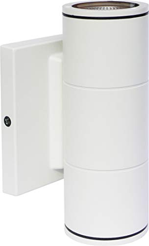 (Amazon) Nuvo 62/1141R1 Two Light Outdoor Wall LED Up-and-Down Sconce, 10W/120-277V, White, Small