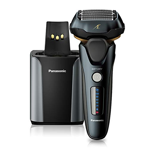 (Amazon) Panasonic Electric Razor for Men, Electric Shaver, ARC5 with Premium Automatic Cleaning and Charging Station, Wet Dry Shaver Men, Cordless Razor, with Pop-Up Trimmer ES-LV97-K, Black
