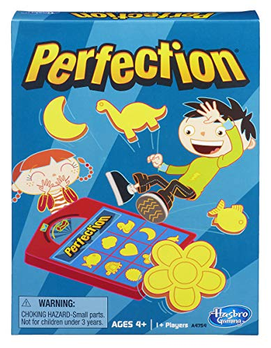(Amazon) Perfection Game Popping Shapes and Pieces Game for Kids Ages 4 and Up