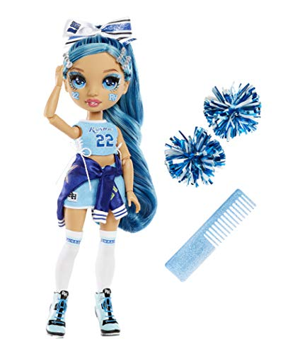 (Amazon) Rainbow High Cheer Skyler Bradshaw – Blue Cheerleader Fashion Doll with Pom Poms and Doll Accessories, Great for Kids 6-12 Years Old