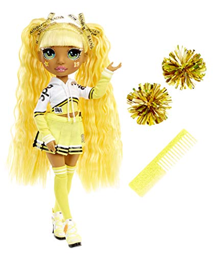 (Amazon) Rainbow High Cheer Sunny Madison – Yellow Cheerleader Fashion Doll with Pom Poms and Doll Accessories, Great Gift for Kids 6-12 Years Old