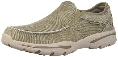 (Amazon) Skechers mens Creston- Moseco Moccasin, Taupe, 8 3X-Wide US
