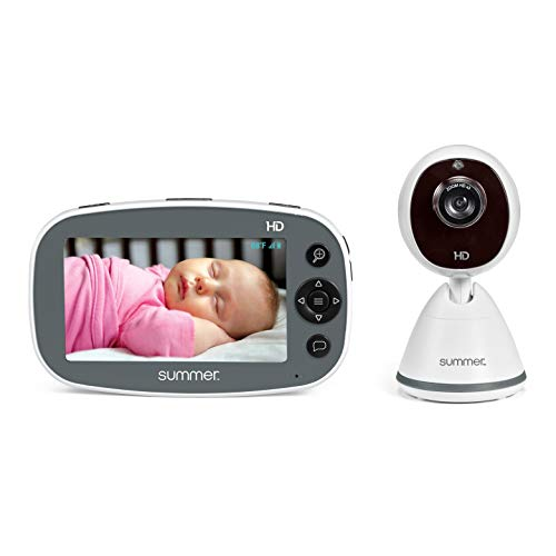 """(Amazon) Summer Pure HD 4.5"""" Color Video Baby Monitor – 3-Level Digital Zoom Baby Monitor with 12x More Pixels – Features Digital Image Steering, Night Vision, Lullabies, White Noise, Temp Display, and More"""