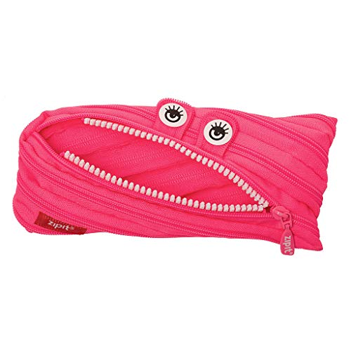 (Amazon) ZIPIT Monster Pencil Case for Girls, Holds Up to 30 Pens, Machine Washable, Made of One Long Zipper! (Pink)