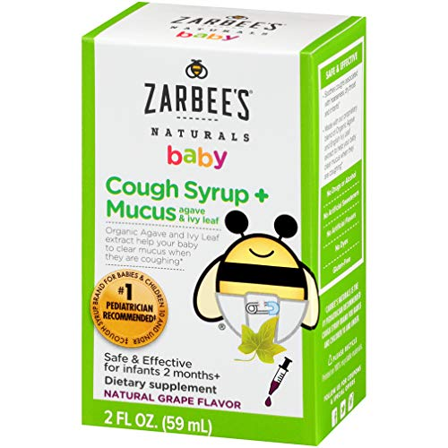 (Amazon) Zarbee's Naturals Baby Cough Syrup* + Mucus, Natural Grape Flavor, 2 Ounces