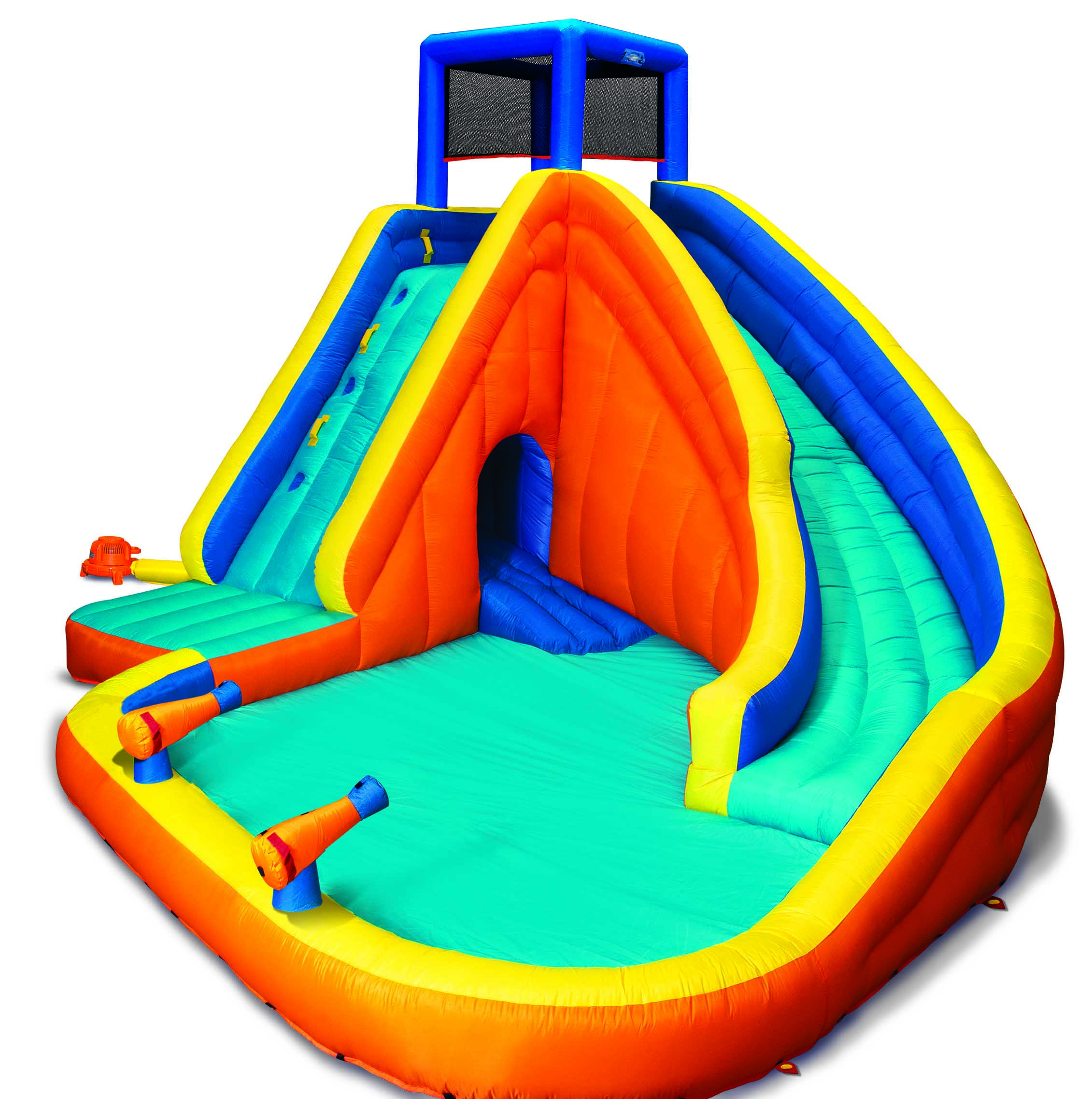 Banzai Sidewinder Falls Inflatable Water Park Play Pool Slide with Water Cannons (Walmart)
