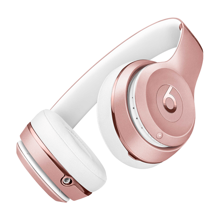 Beats by Dr. Dre Solo3 Bluetooth Noise-Canceling Over Ear Headphones, Rose Gold, MX442LL/A (Walmart)