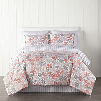 Home Expressions Cassia Floral Reversible Complete Bedding Twin (JCPenney)