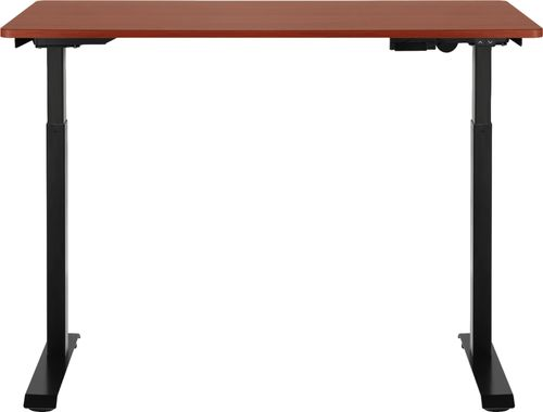 Insignia™ – Adjustable Standing Desk with Electronic Controls – Mahogany (Best Buy)