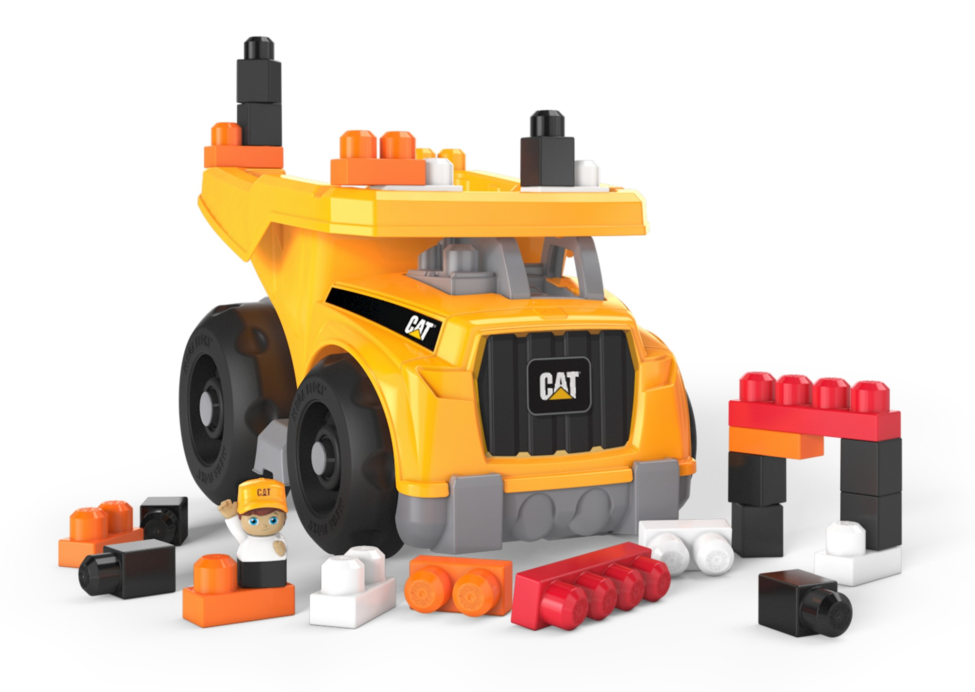 Mega Bloks CAT Large Dump Truck with Big Building Blocks, Buildng Toys for Toddlers (25 Pieces) (Walmart)