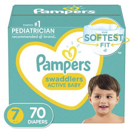 Pampers Swaddlers Diapers, Soft and Absorbent, Size 7, 70 Ct (Walmart)