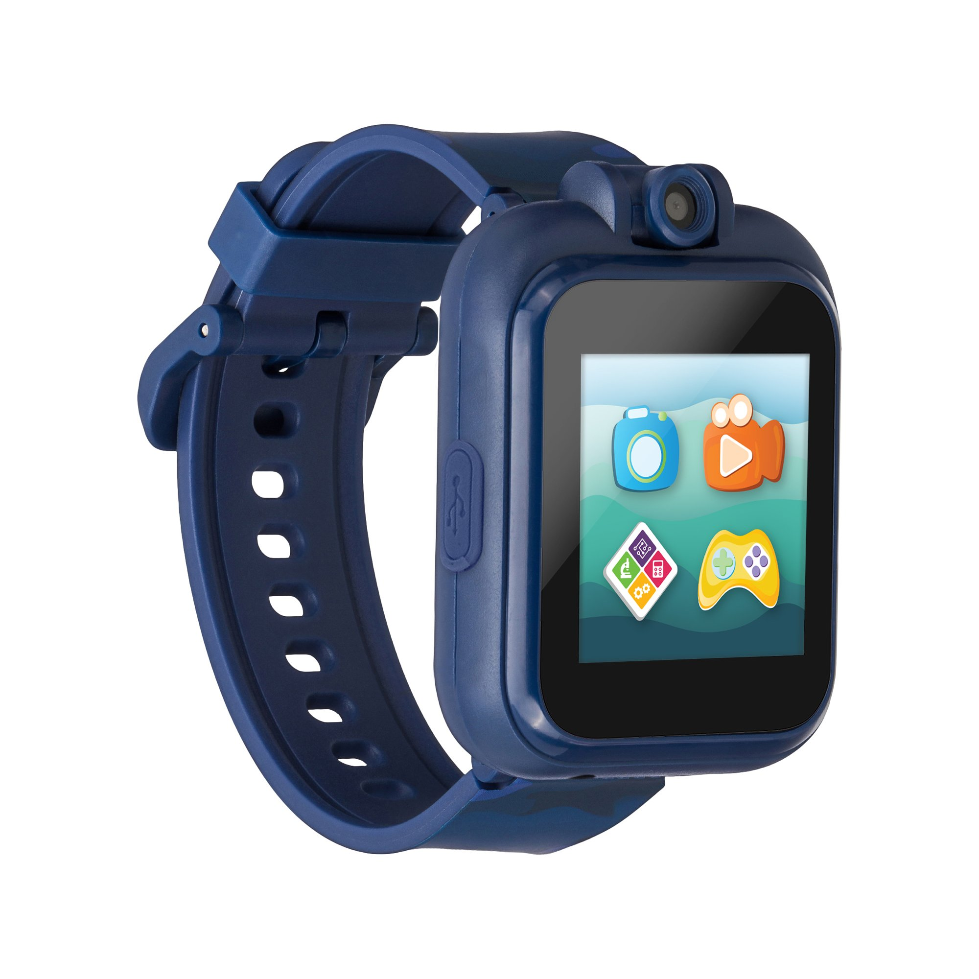 PlayZoom 2 smart watch for kids – touch screen, blue camouflage band (Walmart)