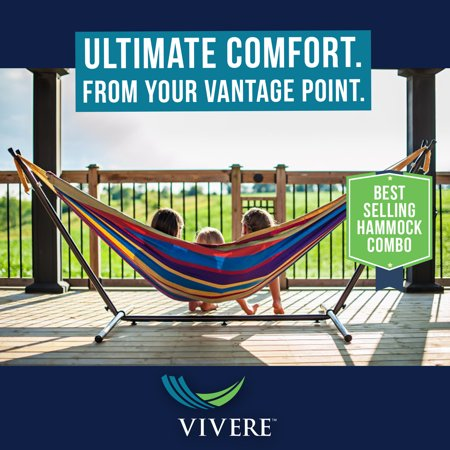 Vivere Double Hammock with Stand Combo, Tropical (Walmart)